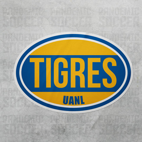 Tigres UANL Liga MX Oval Vinyl Sticker