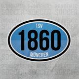 TSV 1860 Munich Germany Oval Vinyl Sticker - Pandemic Soccer