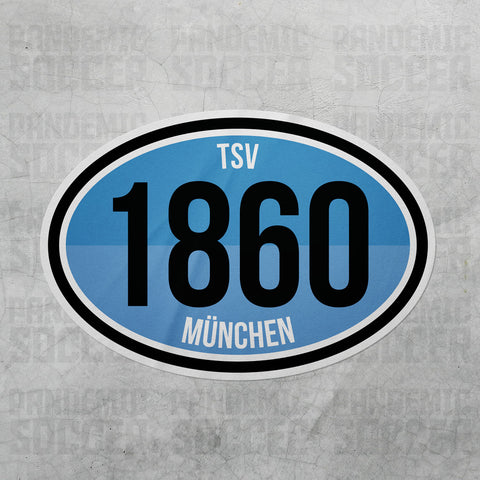 TSV 1860 Munich Germany Oval Vinyl Sticker