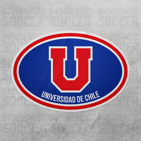 Universidad de Chile Oval Vinyl Sticker - Pandemic Soccer