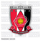 Urawa Red Diamonds Japan Vinyl Sticker Decal Soccer - Pandemic Soccer