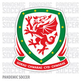 Wales National Soccer Team Vinyl Sticker Decal