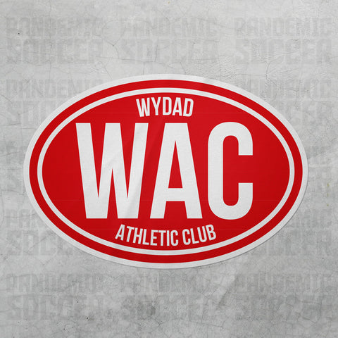 Wydad Athletic Club Morocco Oval Vinyl Sticker