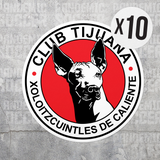 Xolos Tijuana Mexico Vinyl Sticker Decal Pack - 10 Stickers - Pandemic Soccer