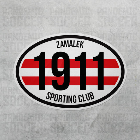 Zamalek SC Egypt Oval Vinyl Sticker