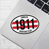 Zamalek SC Egypt Oval Vinyl Sticker - Pandemic Soccer