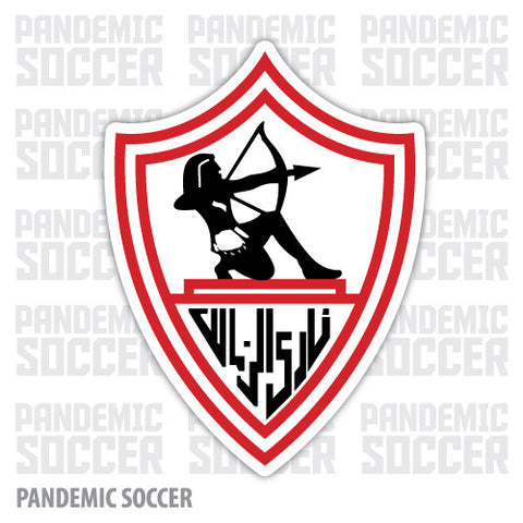 Zamalek SC Giza Egypt Vinyl Sticker Decal - Pandemic Soccer