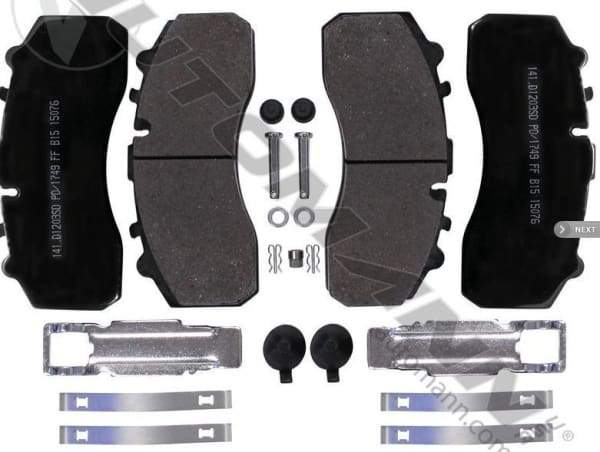 141.D1203SD-Air Disc Brake Pads Severe Duty(FMSI 8323 D1203), (product_type), (product_vendor) - Nick's Truck Parts