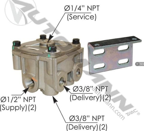 170.065206-R12 Type Relay Valve, (product_type), (product_vendor) - Nick's Truck Parts