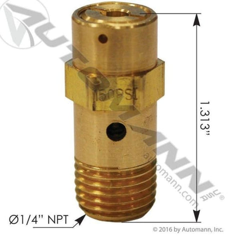 170.80035-ST4 Safety Valve 150 PSI, (product_type), (product_vendor) - Nick's Truck Parts