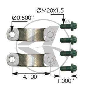 1707018X  -  U-Joint Strap Kit, (product_type), (product_vendor) - Nick's Truck Parts