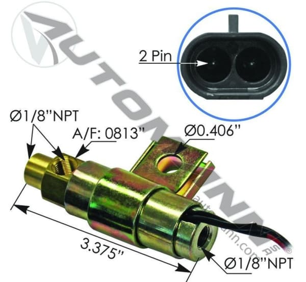 173.1101-Fan Clutch Solenoid Valve, (product_type), (product_vendor) - Nick's Truck Parts
