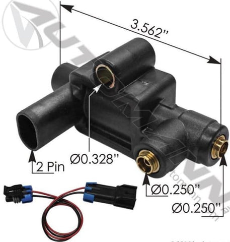 173.1107-Horn Air Solenoid Valve, (product_type), (product_vendor) - Nick's Truck Parts