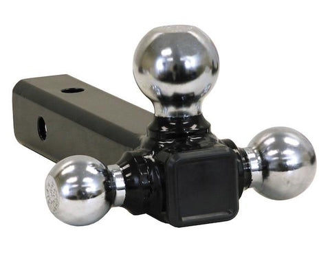 Buyers-1802205-Tri-Ball Hitch Solid Shank With Chrome Balls, (product_type), (product_vendor) - Nick's Truck Parts