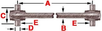 345-234  -  Bearing Style Torque Rod (Bushed), (product_type), (product_vendor) - Nick's Truck Parts