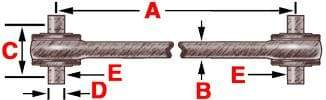 345-886  -  Bearing Style Torque Rod (Bushed), (product_type), (product_vendor) - Nick's Truck Parts