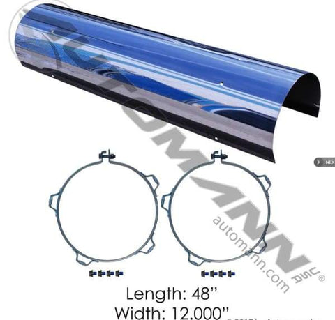 562.U63102SS-Heat Shield 10in Solid, (product_type), (product_vendor) - Nick's Truck Parts