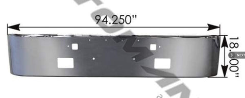 564.75102C-Bumper with Fog Peterbilt, (product_type), (product_vendor) - Nick's Truck Parts
