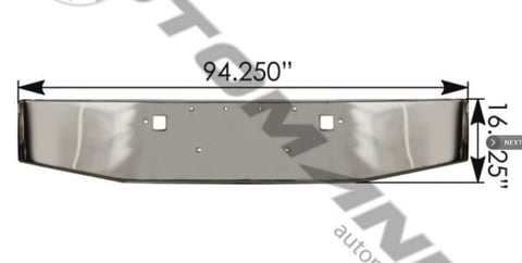 564.75107C-Bumper without  Fog Peterbilt, (product_type), (product_vendor) - Nick's Truck Parts
