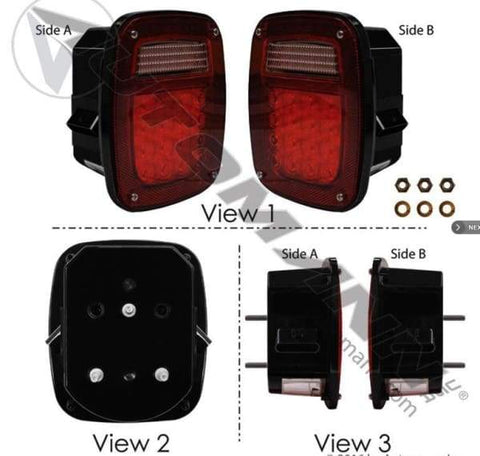 571.LD508R42 - S/T/T Box Light LED Double Metri-Pack, (product_type), (product_vendor) - Nick's Truck Parts
