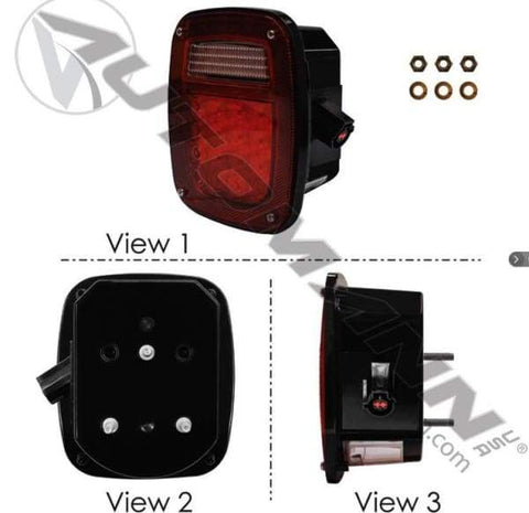 571.LD509R42 - S/T/T Box Light LED Ford LH, (product_type), (product_vendor) - Nick's Truck Parts