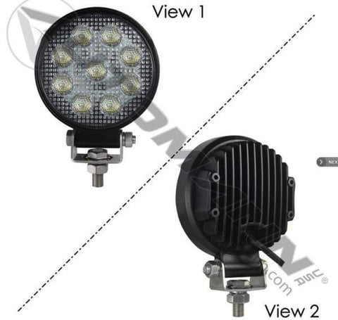 571.LD942WL9-Word Lamp LED 4in Round Flood 1755 LM, (product_type), (product_vendor) - Nick's Truck Parts