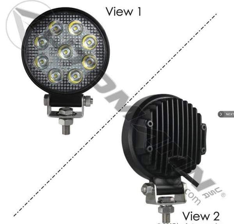 571.LD943WL9-Work Lamp LED 4in Round Spot 1755 LM, (product_type), (product_vendor) - Nick's Truck Parts