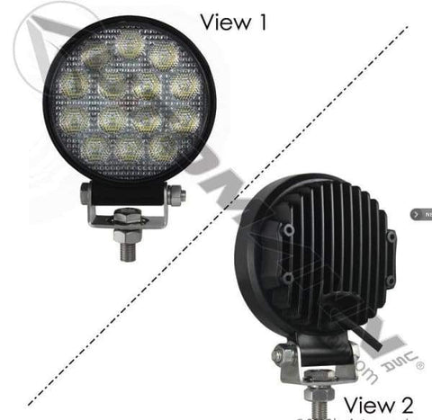 571.LD944WL14-Work Lamp LED 4in Round Flood 2660 LM, (product_type), (product_vendor) - Nick's Truck Parts