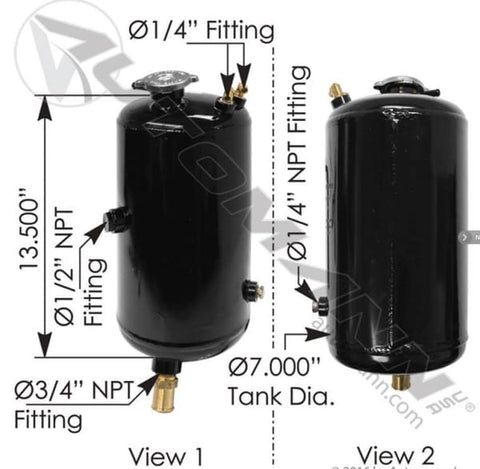 575.1025-Coolant Surge Tank Peterbilt, (product_type), (product_vendor) - Nick's Truck Parts