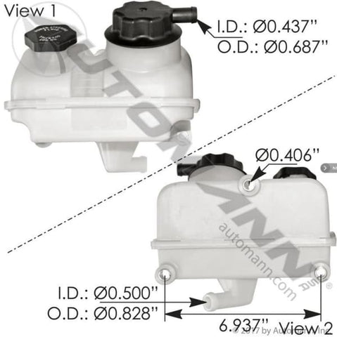 575.1077 - Power Steering Reservoir Freightliner, (product_type), (product_vendor) - Nick's Truck Parts