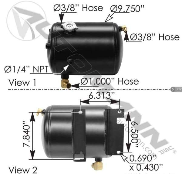575.1089-Coolant Reservoir Western Star, (product_type), (product_vendor) - Nick's Truck Parts