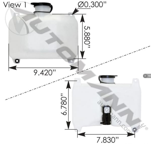 575.1101-Washer Fluid Reservoir Terex, (product_type), (product_vendor) - Nick's Truck Parts