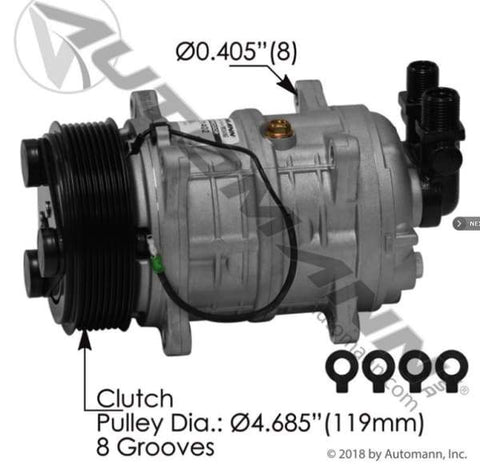 830.31402 - Air Conditioning Compressor TM16 Type, (product_type), (product_vendor) - Nick's Truck Parts