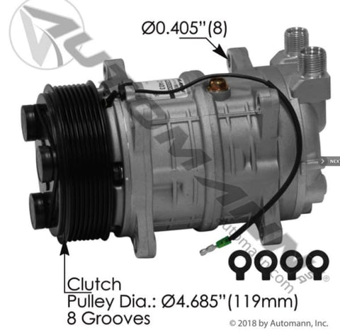 830.31403 - Air Conditioning Compressor TM16 Type, (product_type), (product_vendor) - Nick's Truck Parts