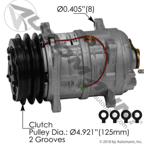 830.31404 - Air Conditioning Compressor TM16 Type, (product_type), (product_vendor) - Nick's Truck Parts