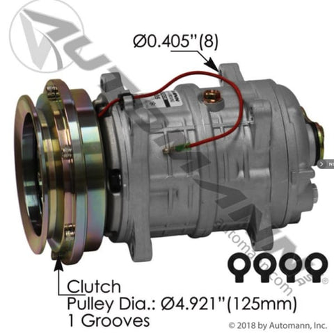 830.31405 - Air Conditioning Compressor TM16 Type, (product_type), (product_vendor) - Nick's Truck Parts