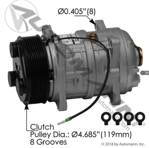 830.31406 - Air Conditioning Compressor TM16 Type, (product_type), (product_vendor) - Nick's Truck Parts