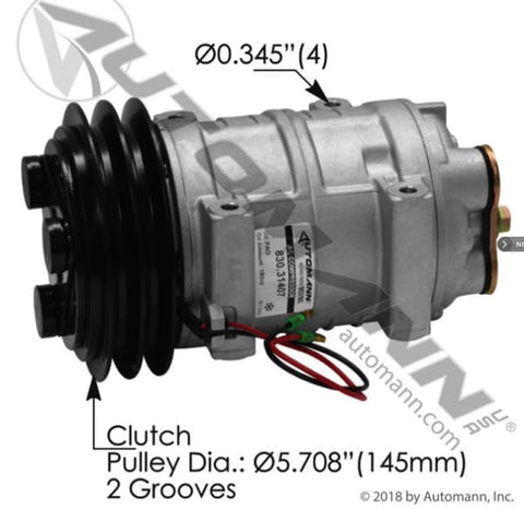 830.31407 - Air Conditioning Compressor TM21 Type, (product_type), (product_vendor) - Nick's Truck Parts