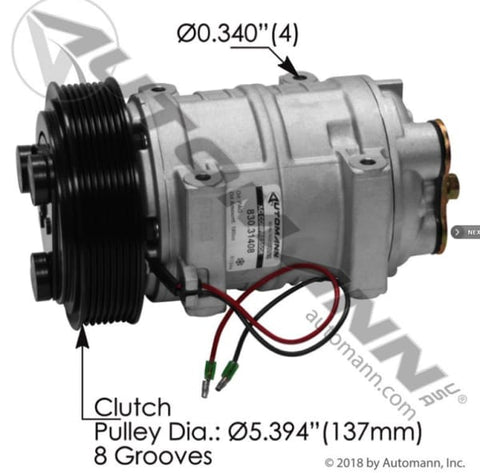 830.31408 - Air Conditioning Compressor TM21 Type, (product_type), (product_vendor) - Nick's Truck Parts