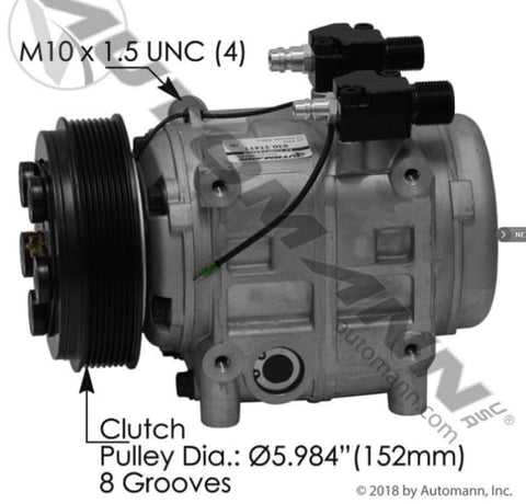 830.31411 - Air Conditioning Compressor TM31 Type, (product_type), (product_vendor) - Nick's Truck Parts