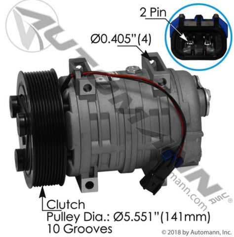 830.31413 - Air Conditioning Compressor TM21 Type, (product_type), (product_vendor) - Nick's Truck Parts