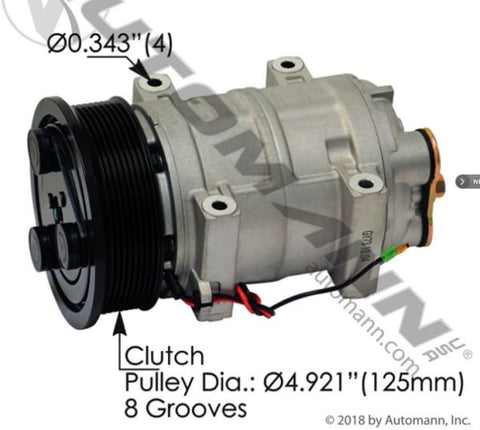 830.31414 - Air Conditioning Compressor TM21 Type, (product_type), (product_vendor) - Nick's Truck Parts