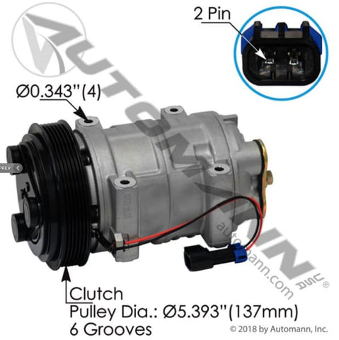 830.31415 - Air Conditioning Compressor TM21 Type, (product_type), (product_vendor) - Nick's Truck Parts