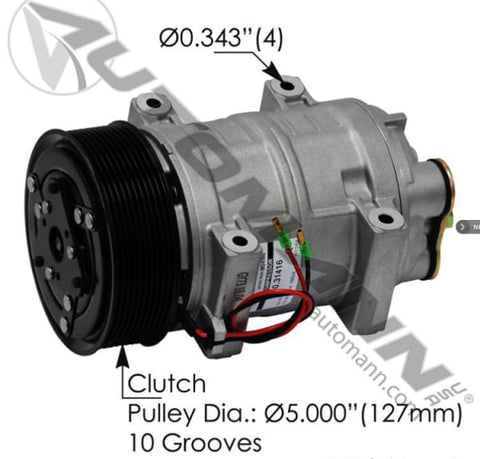 830.31416 - Air Conditioning Compressor TM21 Type, (product_type), (product_vendor) - Nick's Truck Parts