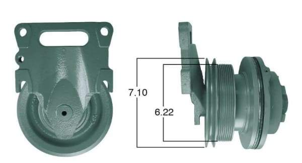 90019-Remanufactured Fan Clutch-Detroit (Core Deposit    $250 Included in Price), (product_type), (product_vendor) - Nick's Truck Parts