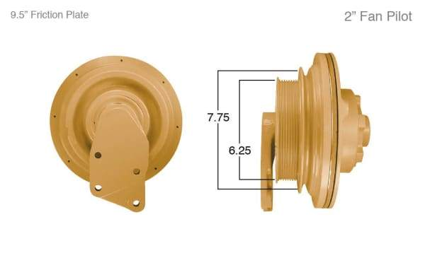 91106-Remanufactured Fan Clutch-Caterpillar (Core Deposit    $250 Included in Price), (product_type), (product_vendor) - Nick's Truck Parts