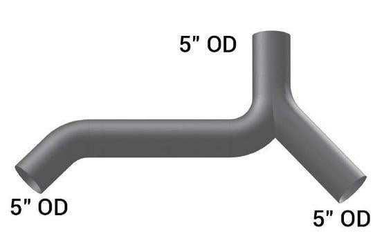 KW-14766- 45 Degree Y Pipe, 45 Degree Bend, (product_type), (product_vendor) - Nick's Truck Parts