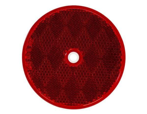 Buyers-5623316-3.1875 Inch Red Round DOT Bolt-On Reflectors, (product_type), (product_vendor) - Nick's Truck Parts