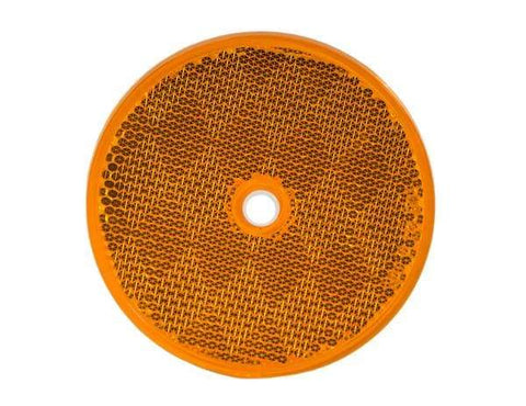 Buyers-5623317-3.1875 Inch Amber Round DOT Bolt-On Reflectors, (product_type), (product_vendor) - Nick's Truck Parts