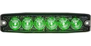 Buyers-8892209-Rectangular Green LED Thin Mount Horizontal Strobe Light, 12-24V, (product_type), (product_vendor) - Nick's Truck Parts